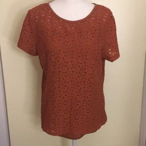 Lands End Rustic Orange Top with Matching Tank Top